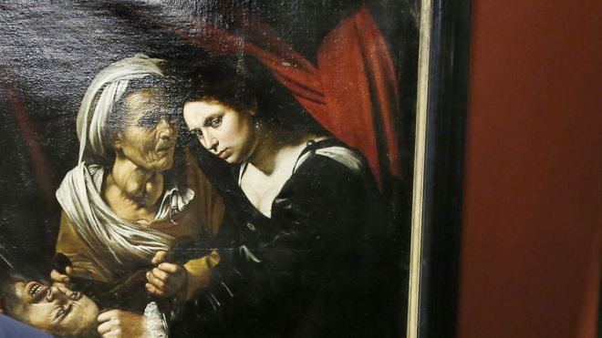 400-year-old  $142m (£100m) Caravaggio masterpiece depicting  Judith beheading Holofernes has just been found in  an attic (graphic)