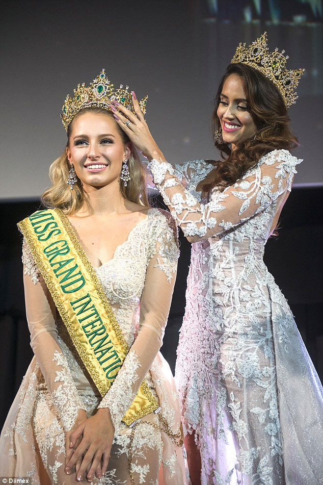 Beauty Queen Switch: Australian Claire Parker is crowned Miss Grand International after the original winner was fired by organisers for being 'too demanding'