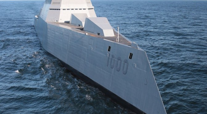 $4bn USS Zumwalt:  US navy takes charge of largest destroyer with qualities likepummeling enemies 100 miles away and tricking radar into thinking it's a fishing boat
