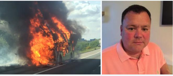 Paul Bingham, Hero coach driver rescued 59 school children and 7 teachers from burning bus