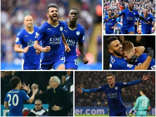 At 5,000 to 1 odds of winning, Leicester Wins the premier league title in style .