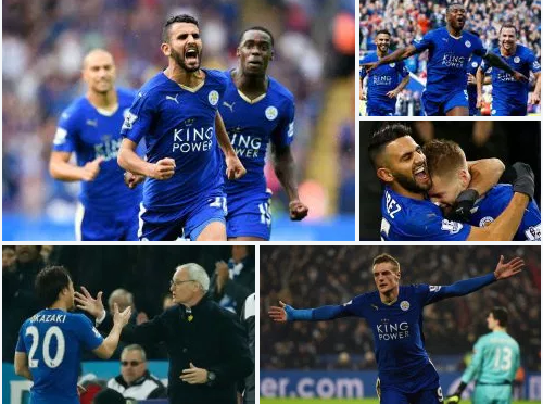 At 5,000 to 1 odds of winning, Leicester Wins the premier league title in style.