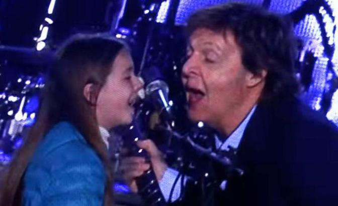 Leila, 10, Argentinian girl, upstages Sir Paul McCarthney in Buenos Aires concert.  See video