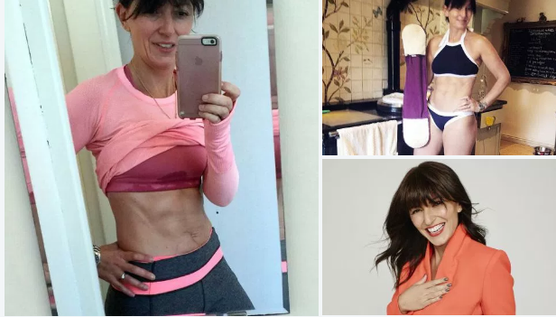 Davina McCall, 48, fit s a fiddle, with anenviable six-pack, confident, successful and great role model
