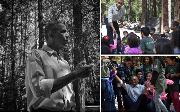 4th graders help President Obama up at Yosemite National Park