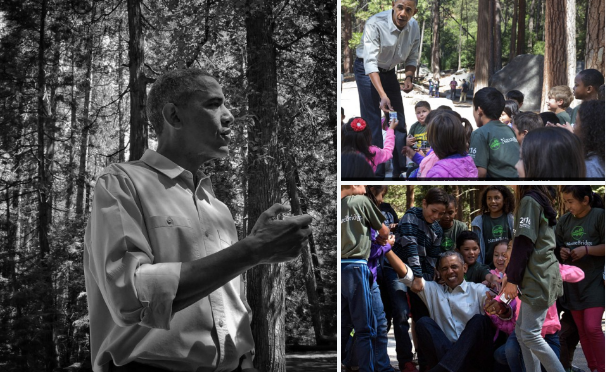 4th graders help President Obamaup atYosemite National Park