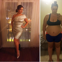 Justine McCabe (313lbs ) lost 126lbs after her husband's tragic suicide… she shares her epic transformation through daily selfies