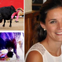 Horror!! Wife of Spanish matador watched her husband bullfighter, Víctor Barrio, Spanish bullfighter, gored to death in the ring on live TV