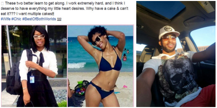 'Entitled' love rat, Lonnie Turner,posts Facebook message asking his wife and mistress to get along ,else? Do the women have serious low self esteem?