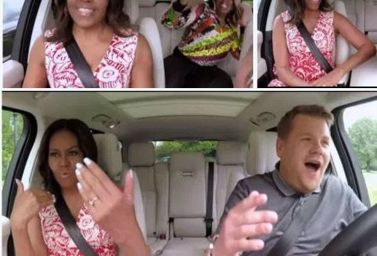 Must Watch -quite fun: Michelle Obama Sings Karaoke on James Corden's CarpoolKaraoke