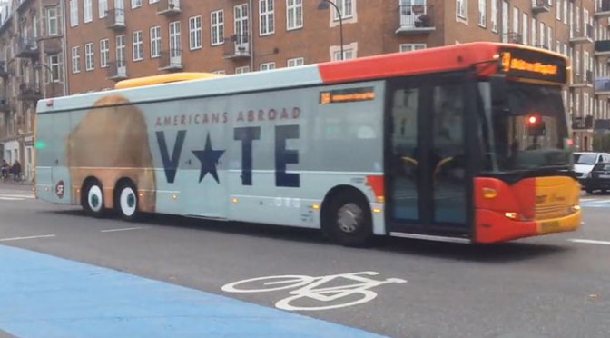 From Copenhagen with 'love' – got out and vote Nov 8 – watch video on election humor