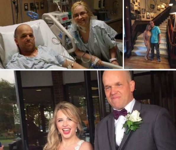 Love conquers all: Chris Dempsey, marine, first he donates liver to save Heather Krueger who had 2 months to live, marries her a year later in beautiful ceremony