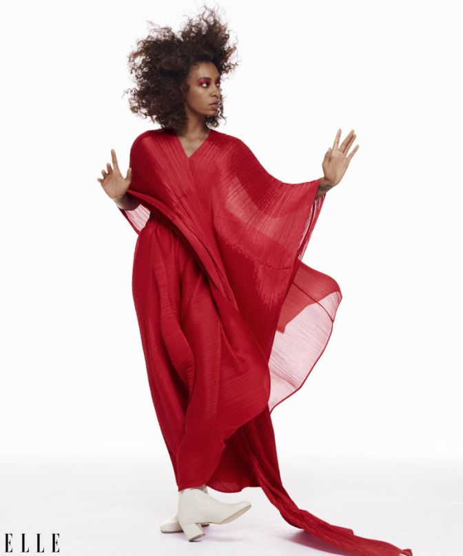 'It girl', Solange Knowles on cover of Elle magazine – 'A seat on the table'