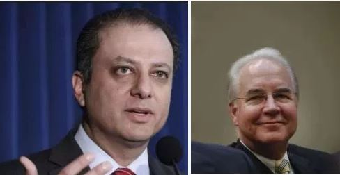 What a coincidence: Former NY fed attorney, Preet Bharara, was investigating stock trades, by health secretary,Tom Price when he was fired by Trump administration #FriendsinHighPlaces