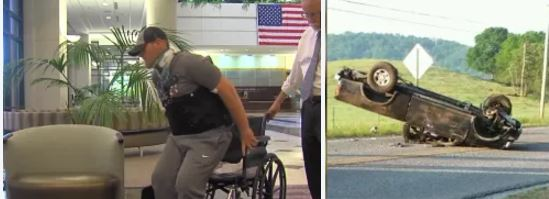 It'a a Miracle!!:Heath Baker, was internally decapitated in auto crash, now standing, walking and talking in just twoweeks – wow thank God