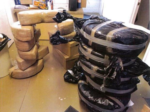 400 pounds of marijuana hidden in newly manufactured cars (in the trunks of Ford Fusions) shipped from Mexico