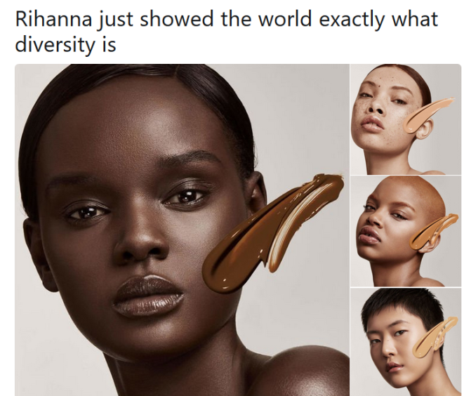 Fenty Beauty by Rihanna – showing true diversity