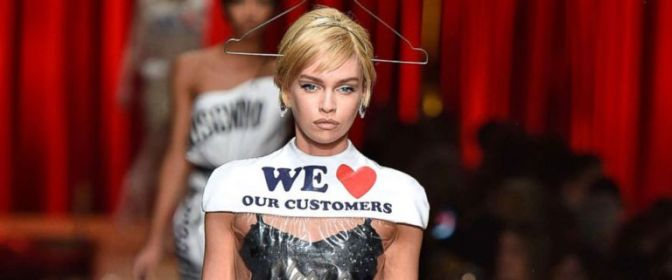 Yeah or nay! $800 for Moschino dress that looks like dry cleaning plastic wrap