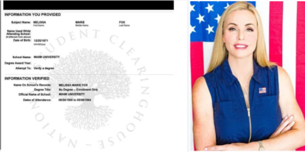 Melissa Howard posed with FAKE diploma in marketing says Miami University in Ohio debunks Florida GOP candidate's degree claim