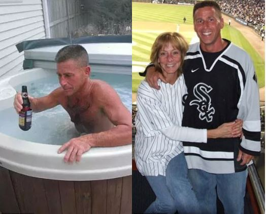 Eric Huska was 'caught on home surveillance video drowning his wife by closing the lid of their hot tub while she struggled to get out' – why?